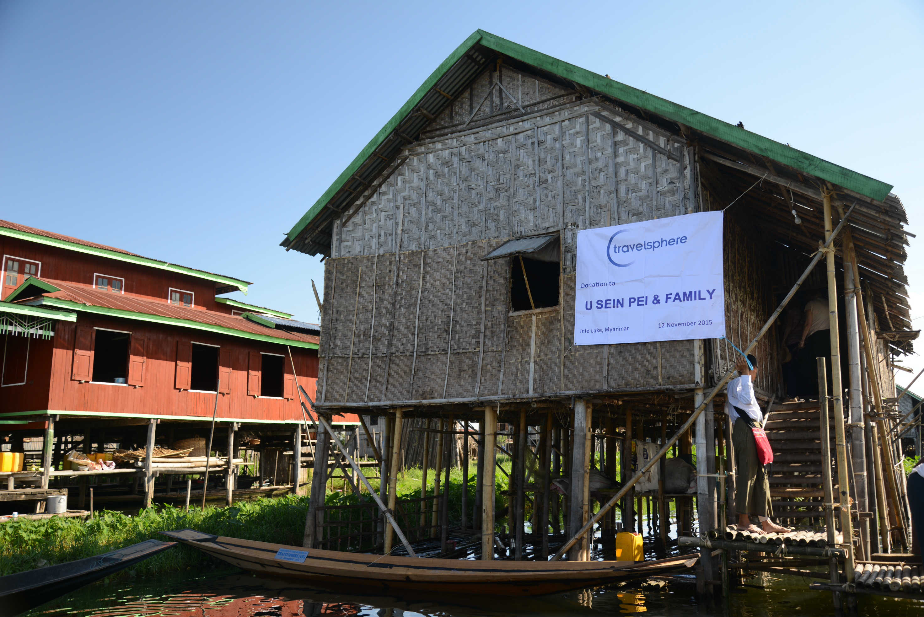 LBURMG 01 Travelsphere Cares Donate a fishing boat house.JPG