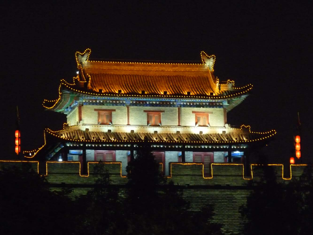 LCNS City Walls at Night Xian