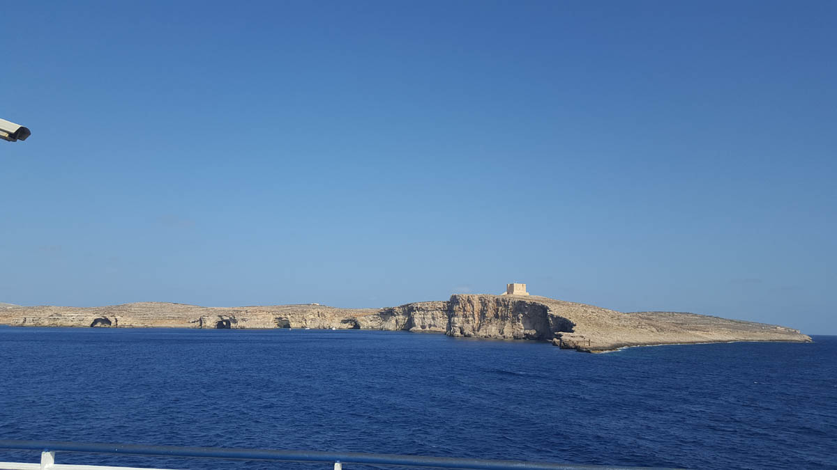 SEMI 11 View of Comino en route to Gozo
