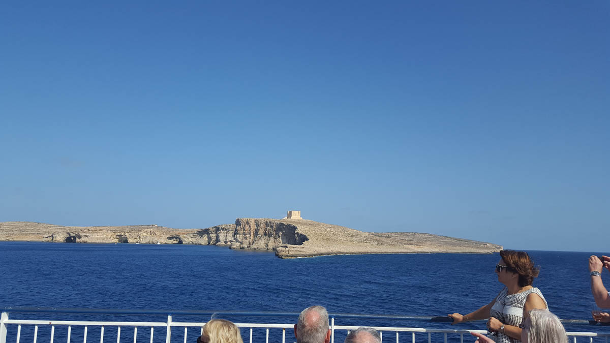 SEMI 12 View of Comino en route to Gozo