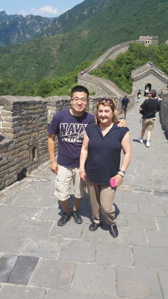 SLCHI 06 Great Wall of China   Local Guide Alan and Tour Manager Susan Hussein